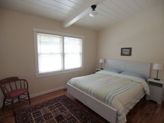 Pacific Grove house photo - Downstairs bedroom with queen bed.