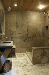 Woodstock house photo - Downstairs Bathroom - Japanese style with radiant heated floors