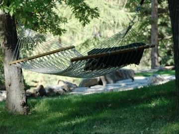 Great place for an afternoon nap...the birds will sing you to sleep.