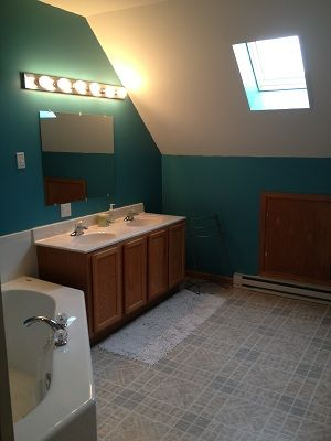 Master suite Bathroom Jacuzzi & Steam shower & skylight.