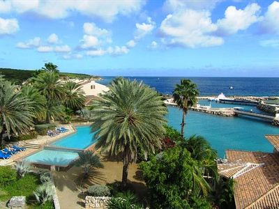 Magnificent view of the resort pool, the Ocean and the Dolphin Training grounds!