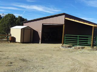 Salida house photo - large barn with tack shed