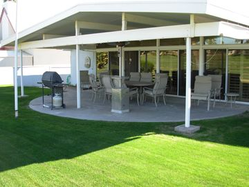 Patio from golf course