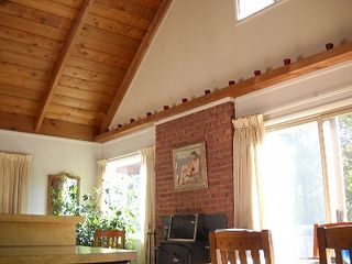 Belleayre Mountain chalet photo - Great room with cathedral ceilings and amazing mountain views.