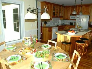 Waterbury Center villa photo - A fully equipped custom KITCHEN & DINETTE (this is where we let the kids eat)