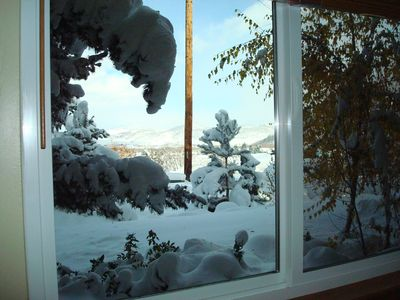 Beautiful Winter View from Bedroom Window
