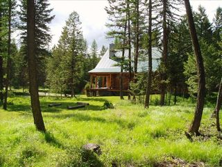 Whitefish cabin photo - Relax in the woods - no neighbors visible