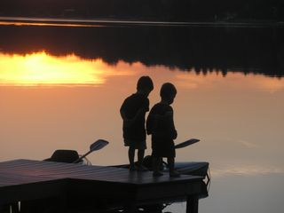 Penn Lake cottage photo - Sunsets, Smores and Fishing