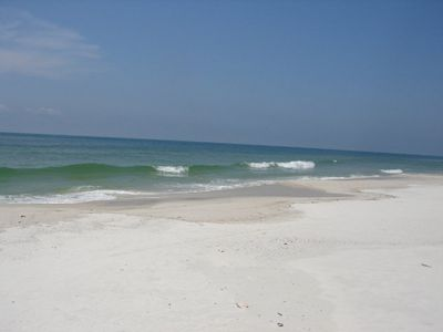 Gulf Shores cottage rental - The relatively secluded beach is great for fishing, walking, taning and shelling