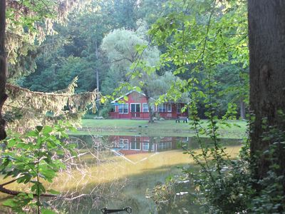 Geneva cabin rental - View from across the pond