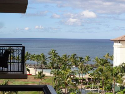 From our Lanai - picture of the lagoon and the Pacific Ocean