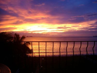 Watch fabulous sunsets over the ocean from the spacious terrace