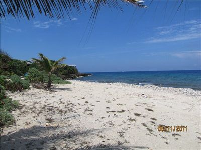 enjoy private beach across the road from Casa Mariposa snorkel.or collect shells