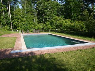 Alford chateau / country house photo - Heated pool is completely fenced in and has a cocktail seat.