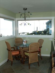 Kitchen nook table - also has dining table and kitchen bar w/8 stools