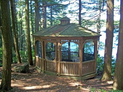 Benton Pond Gazebo --  great for wine and cheese while enjoying the view