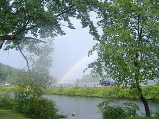 Lake Winnisquam cottage photo - Perfect Rainbow in front of Cottage