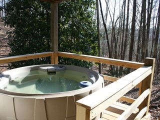 Secluded cabin carter 39 s lake hot tub out vrbo - Jacuzzi aire libre ...