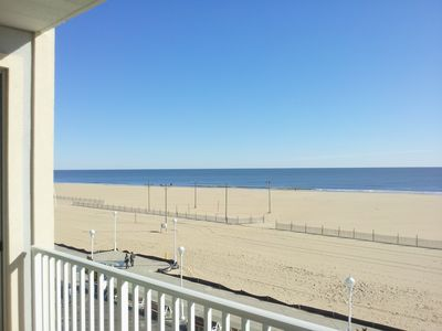 View of Beach, Boardwalk and Atlantic Ocean from Private Balcony