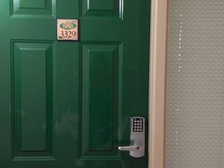 Palmetto Dunes condo photo - Electronic lock on the front door. No Keys! No threat from prior renters!