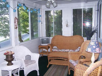 Enjoy the lakeview from the summer porch