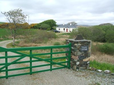 "Entrance to ECO 'Cuach Cottage'  "" Five Star Cottage "" It has a 100 mtr. drive."