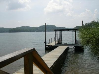 Gainesville house rental - 9ft x 20ft. Covered Boat Slip w/ Steps to Expansive Water Views