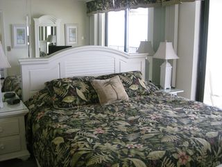 Seawinds condo photo - King-sized bed in master bedroom with ocean view!