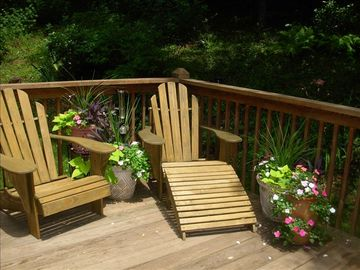 Enjoy the Flowers on the Back Deck