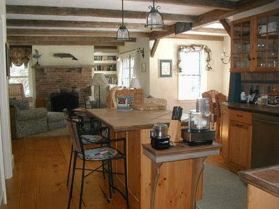 Madaket house rental - Open kitchen/living/dining areas.