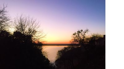 Sunset View from Deck of Lake Whitney