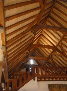 Timbered roof over Great Hall and Gallery