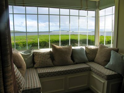 Window seat in living rm - view of the sea