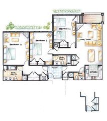 Ludlow condo photo - Okemo Luxury Penthouse Condo - Adams House - Floorplan