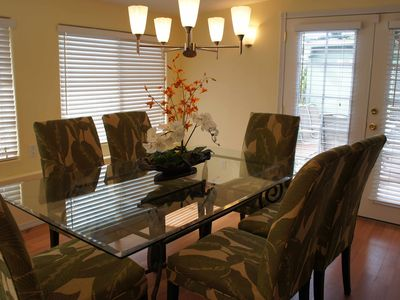 Dining room for family meals.