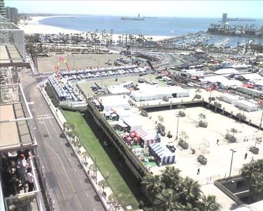 The famous Long Beach Grand Prix. The Balcony has a perect view !!