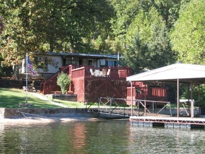 Island Point Cottage view from lake