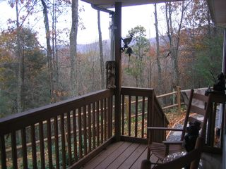 Maggie Valley house photo - Front porch, side view of mountain range