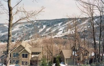 GREAT view of Camelback ski trails from the living room and deck