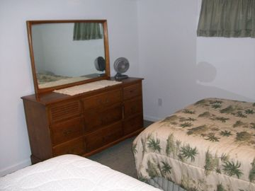 Another view of lower level bedroom with twin beds