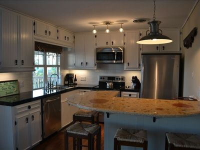 Rockport house rental - Enjoy the view and cooking great meals in our brand new kitchen!