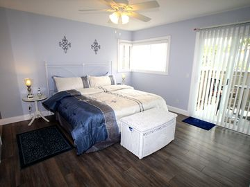 Master bedroom has ocean views - California King Bed - private patio