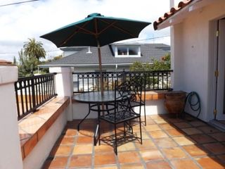 La Jolla bungalow photo - Outside tables and chairs with umbrella
