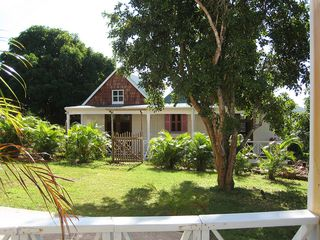 Gingerland villa photo - The View of CocoHut Guest Cottage from Mango House