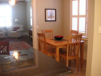 Dining room has seating for four
