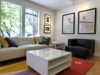 Snug Yet Spacious 2br Apt Features Thoughful Design, Quality Furnishings And Art