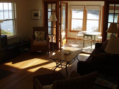 Guilford cottage rental - Living room area and view.