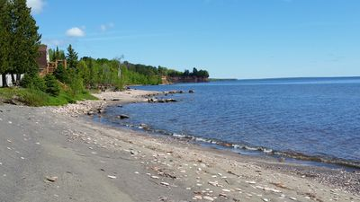 Cottage on 450' of Private Beach on Lake Superior's Keweenaw Bay