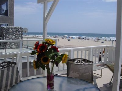 Newport Beach condo rental - Upper Unit Deck View overlooking Newport Beach