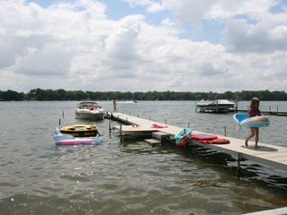 New vinyl dock - Sister Lakes cottage vacation rental photo